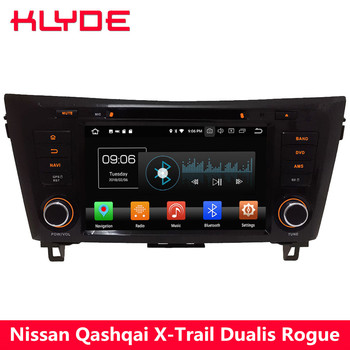 KLYDE 4G WIFI Android 8.0 Octa Core 4GB RAM 32GB ROM Car DVD Multimedia Player For Nissan Dualis Rogue Qashqai X-Trail 2013-2018