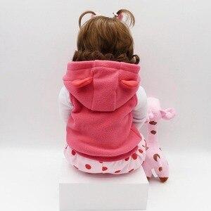 Image 4 - NPK Реалистичная коллекция, Спящая детская кукла, силиконовая кукла для тела, кукла симулятор, игрушечный домик, милая кукла 58 см, большой размер