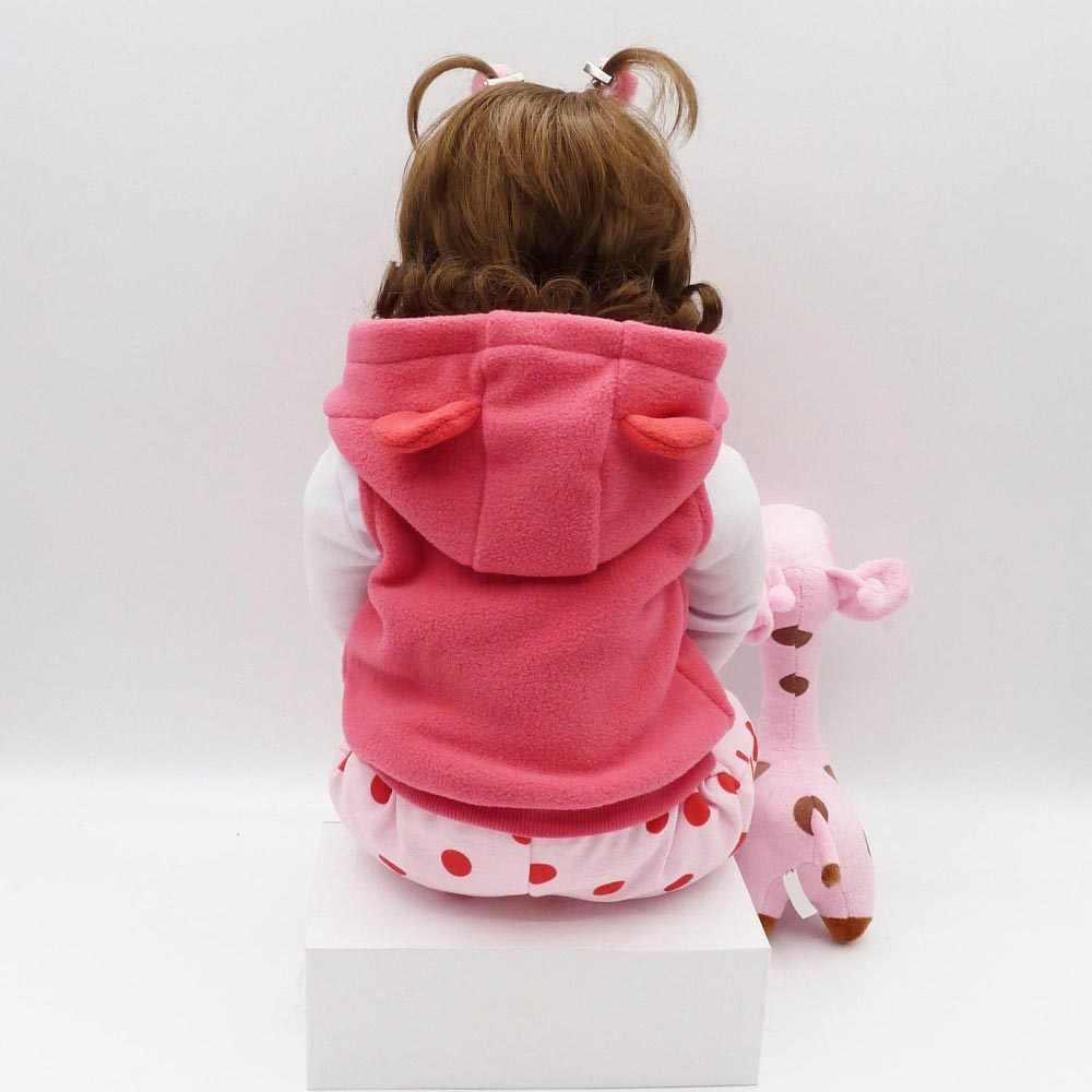NPK Реалистичная коллекция Спящая Детская кукла Возрожденный силикон тело кукла ребенок моделирование кукла для игры в дочки-матери игрушка милая кукла 58 см Большой размер