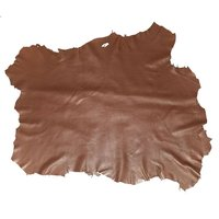 PASSION JuneTree First Layer Whole Sheep Skin Brown Color About 6 To 7 SF