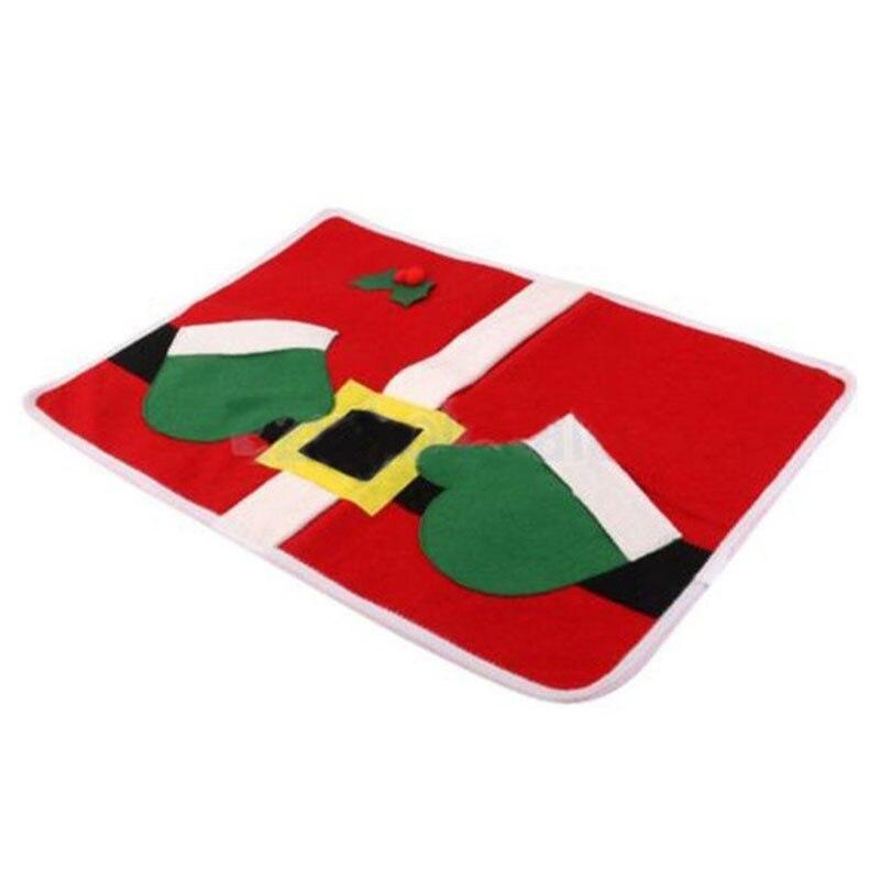 7aa1cb5adf850 Decorações de natal Papai Noel Bolsos Duplos Prato Placemat Tablemat Festa  Em Casa Decoração de Natal de Ano Novo Kerst