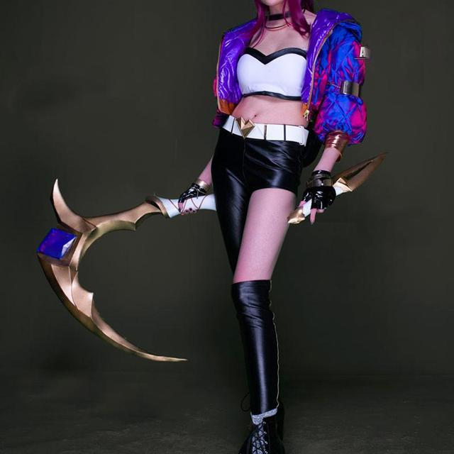 UWOWO PRE-SALE Game LOL Cosplay K/DA   0riginal Akali Cosplay LOL KDA Costume Game Halloween Costume Cosplay Set