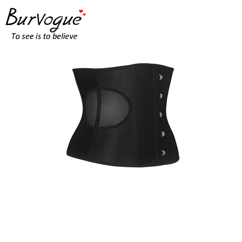 0256a6db465 Burvogue Women Waist Trainer Corsets Slimming Shaper Belt Short ...