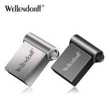 Super mini usb del metallo flash drive 64 gb 32 gb 16 gb 8 gb 4 gb flash drive portatile 128 gb di memoria del bastone Pendrive di Memoria flash disk(China)