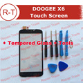 DOOGEE X6 сенсорный экран TP + Инструменты 100% Первоначально Дигитайзер стеклянная панель Замена Тяга Для DOOGEE X6 мобильного телефона