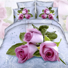 3D Rose Floral Printing Bedding Set for Full – Queen Size Bed,Cotton Duvet Cover Pillowcase Bed Sheets Some Areas Free Shipping