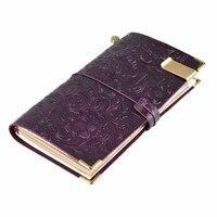 100% Véritable ordinateur portable en cuir journal À La Main journal sketchbook Classique vintage style Vache journal Refillalbe Livraison gratuite