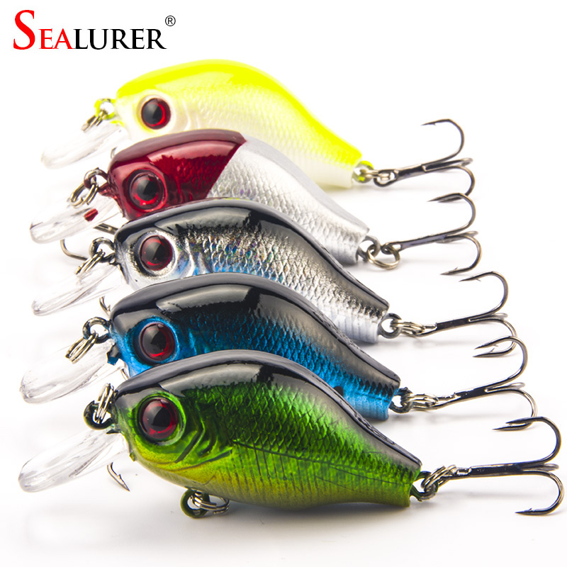 SEALURER Brand Crankbait Fishing Lure 5.5cm 8G High Quality Winter Wobbler VIB Fly Fishing Hard Bait Fishing Tackle 5pcs/lot
