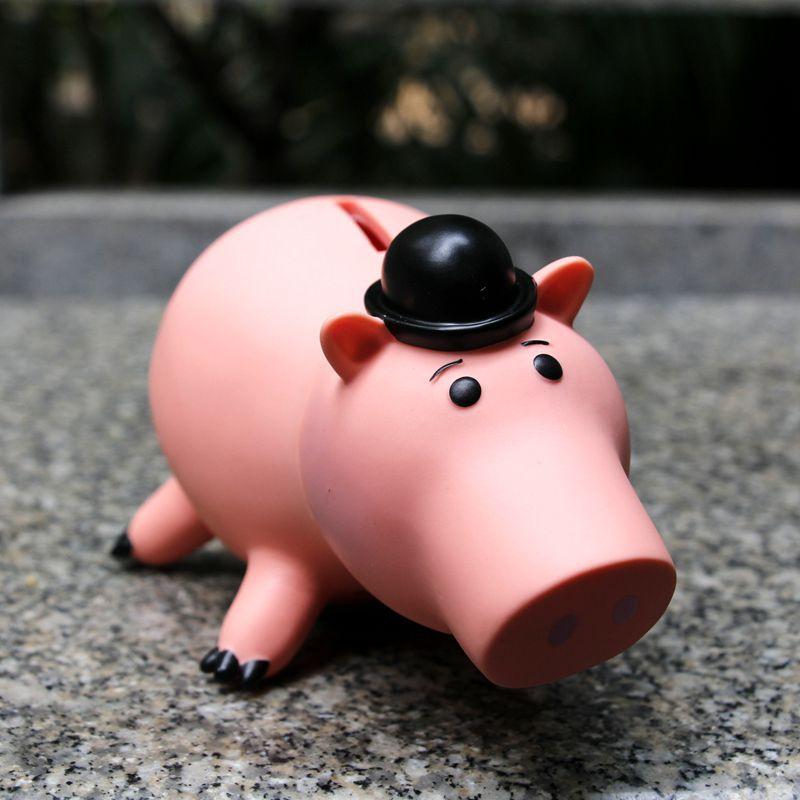 Toy Story Hamm Piggy Bank Pink Pig Coin Box PVC Figure Toys Money Bank Birthday Children Gift