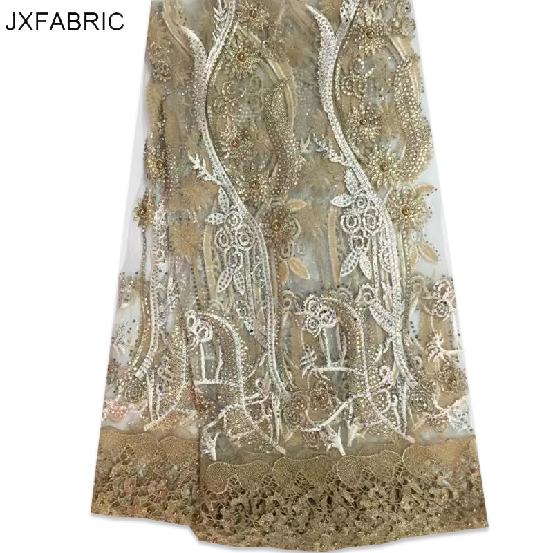 Jxfabric 2016 latest african lace fabric high quality for French lace fabric for wedding dresses