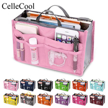 Insert Bag Women Nylon Travel Organizer Handbag Purse Large liner Lady Makeup Cosmetic bag Cheap Female Tote