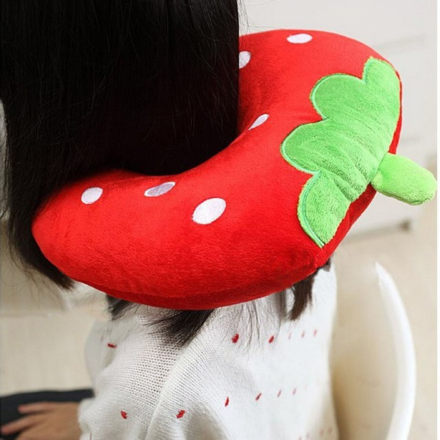 U Shaped Neck Pillow Multi-Color Cartoon Neck Headrest Soft Cushion Travel Pillow 2