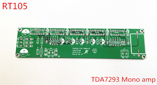 410W 5 parallel tda7293 amplifier mono amplifier board rear amp ...
