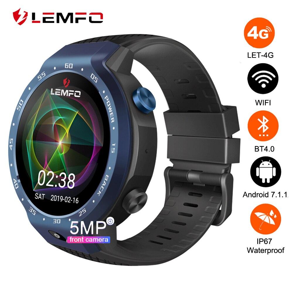 LEMFO LEM9 double systèmes 4G montre intelligente Android 7.1 1.39 pouces 454*454 affichage 5MP caméra frontale 600 Mah batterie Smartwatch prévente