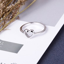 цены New Heart Stainless Steel Wedding Rings for Women Party Silver Hollow Trend Fingers Rings Jewelry Wholesale Anillos Mujer