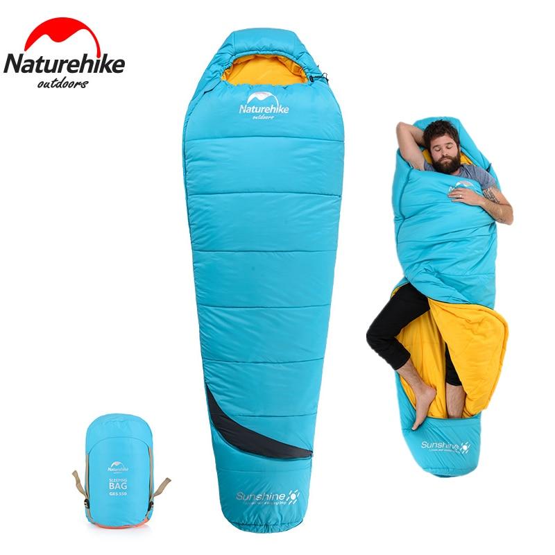 Sac de couchage momie en coton naturel avec sac de Compression Portable et léger pour le Camping de 3-4 saisons, la randonnée, la randonnée