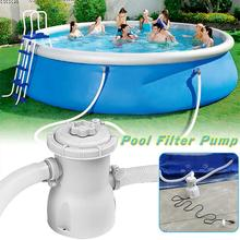 1 Set Swimming Pool 220V Electric Filter Pump Tool Basen Piscina For Baby Child Inflatable Pool To Keep Pool Cleaning Accessorie eu plug electric hot 220v electric swimming pool filter pump for pools cleaning filter kit pool pump paddling pool pump water