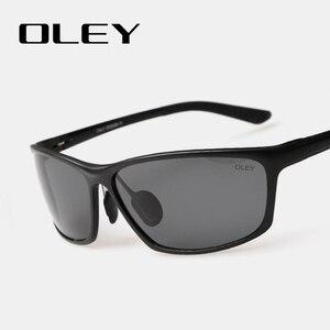 Image 4 - OLEY lunettes de soleil accessoires lunettes polarisées pour hommes, marque de styliste en aluminium magnésium, accessoires pour la conduite