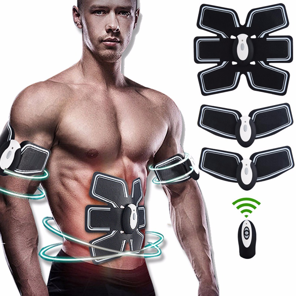 Rechargeable Wireless Muscle Stimulator EMS Stimulation Body Slimming Abdominal Muscle Exerciser Training Device Body Massager electric beauty body slimming and lipoid fat massaging massager is powerful vibratory body and slimming machine