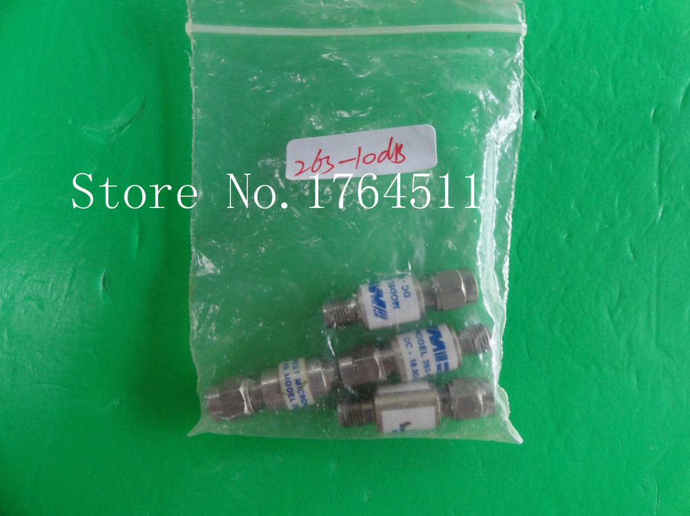 [BELLA] MIDWEST 263-10dB DC-18GHz 10dB 2W SMA Coaxial Fixed Attenuator  --2PCS/LOT