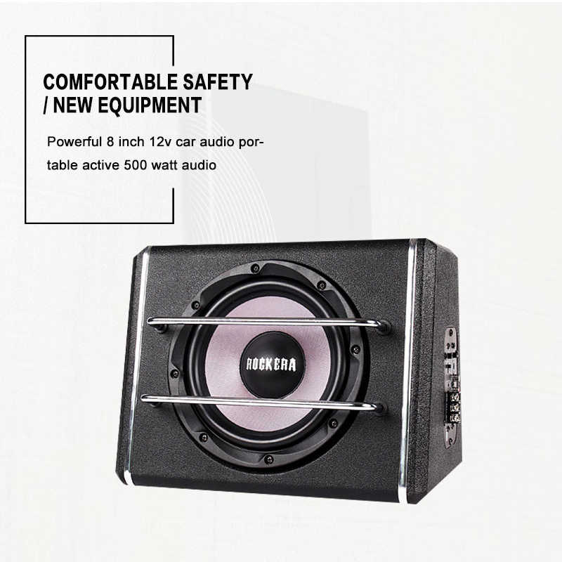 Powerful 8 Inch 12v Car Audio Acoustic Portable Active 500Watts Speakers, Amplifier Boom Box Stage Louder Speaker Subwoofer