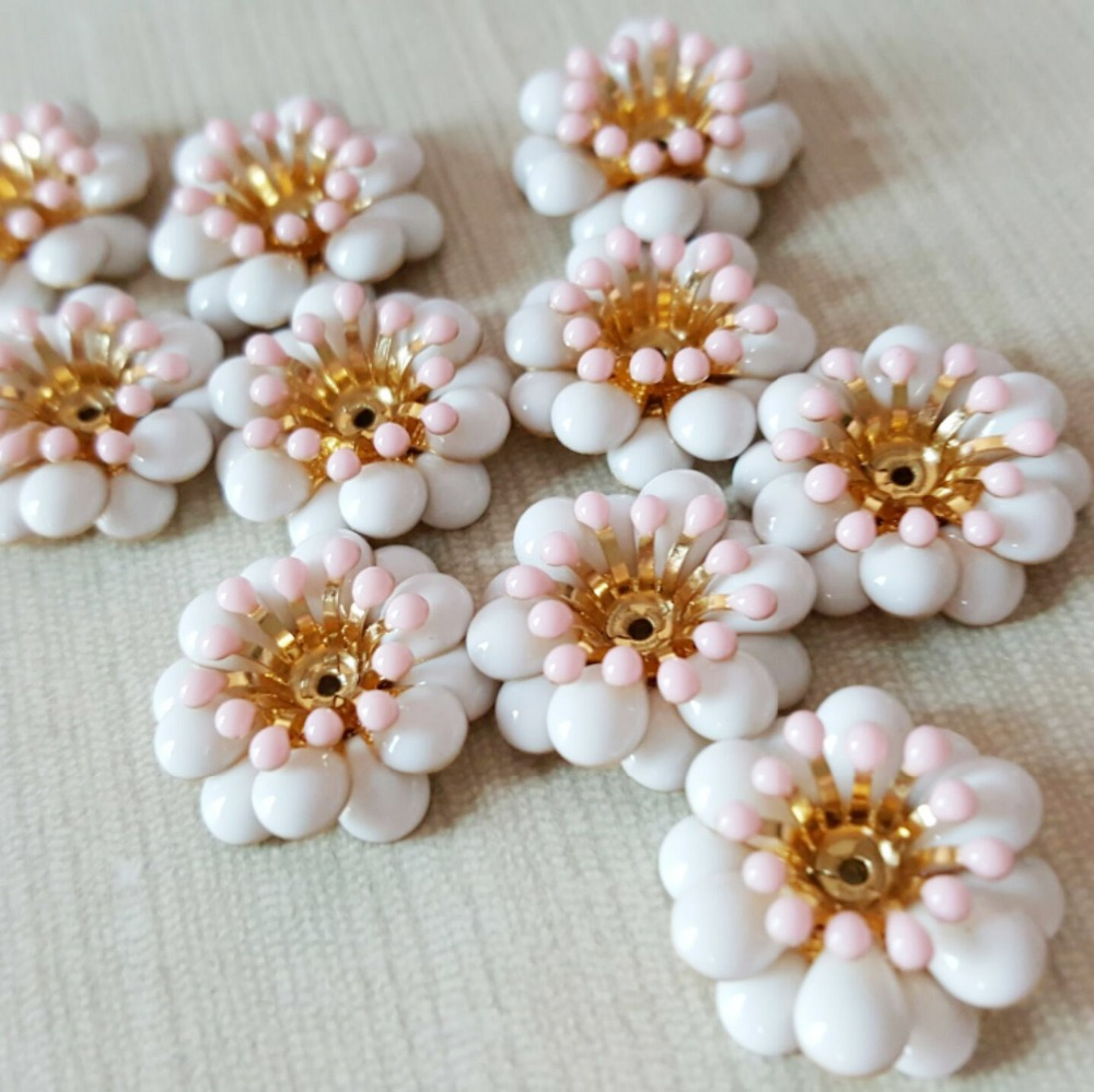 Purposeful Diy Hair Accessory Accessories Material All-match Chrysanthemum Sew-on Drill Flower Buckle Houaphan Accessories Decoration Great Varieties Apparel Sewing & Fabric Buttons