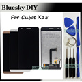 Black/White/Gold 5.5 inch For Cubot X15 X 15 LCD Display + Touch Screen Digitizer Assembly Replacement + Tracking number + Tools