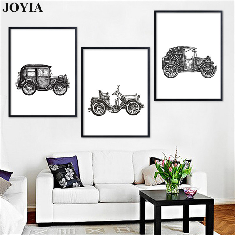 Classical Old Car Motorcycle Painting Canvas Art Prints Poster Abstract  Sketch Wall Pictures For Home Bedroom Decor No Frame In Painting U0026  Calligraphy From ...