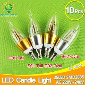 цена на 10pcs E14 LED Candle Bulb Golden Aluminum 9w 12w LED Light 220V Led Lamp Cool Warm White Lampada Bombillas Lumiere SMD 2835 COB