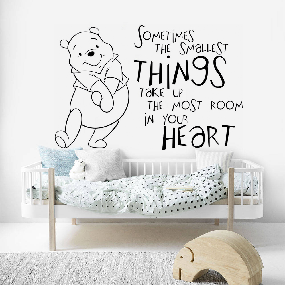 Girl Winnie the Pooh Nursery Wall Decal Stickers For Kids Baby Room Protable 1PC