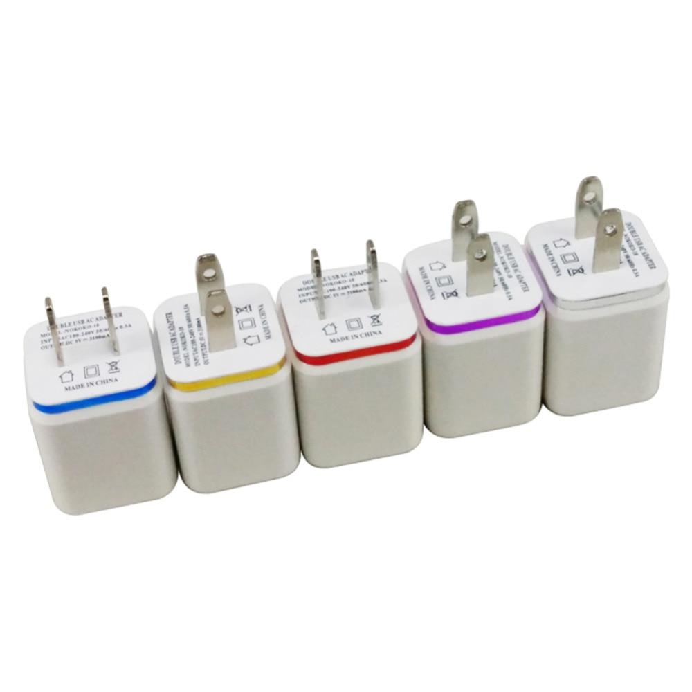 США Plug Dual 2 порта USB Moblie Зарядное - Аксессуары и запчасти для мобильных телефонов - Фотография 2
