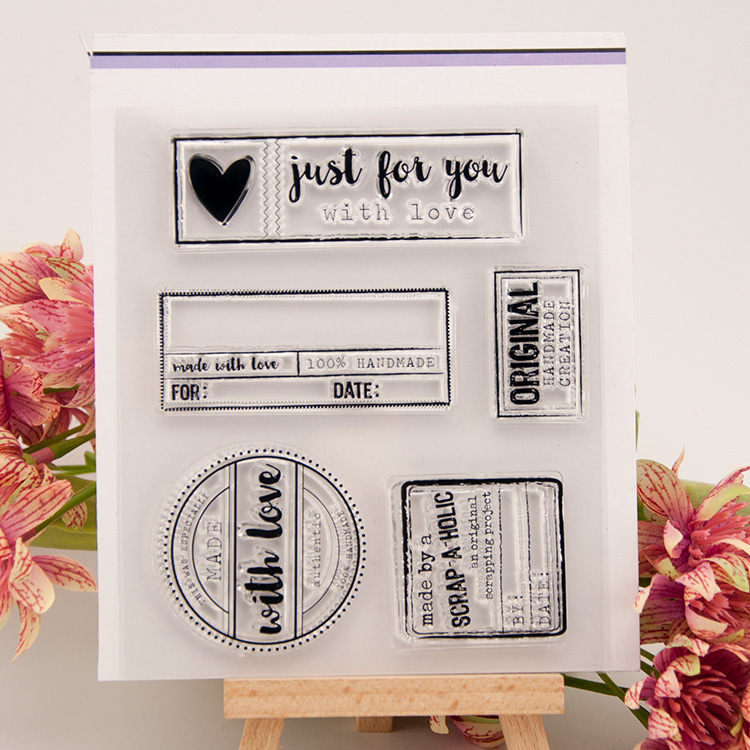 Just for you words Scrapbook DIY Photo Album Account Transparent Silicone Rubber Clear Stamps cartoon pattern scrapbook diy photo album account transparent silicone rubber clear stamps 20x28 5cm big size wedding