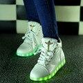 Led luminoso sapatas das mulheres 2017 de moda de nova Led sapatos para adultos plus size mulheres sapatos casuais