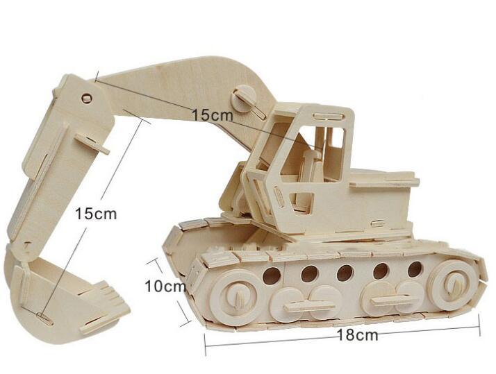 Моделирование Модель Экскаватора игрушки 3d трехмерные деревянные головоломки игрушки для детей Diy ручной работы деревянные пазлы