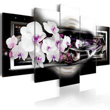 5 шт красивые цветные орхидеи Цветочная Роспись стен черный