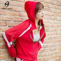 Novel Ideas Women Sport Suit Yoga Top Quick Dry Long Sleeve Running Shirt Female T Shirt