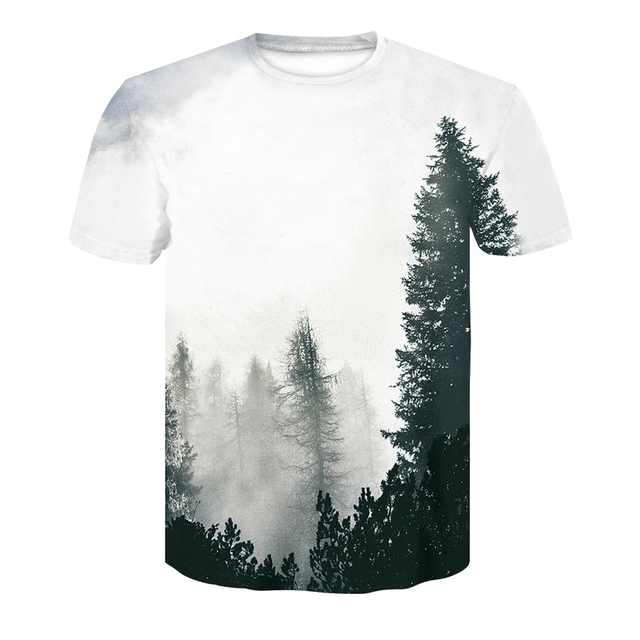 142ae6c671d Men s T-shirt 3D Print Winter Forest Trees Quick Dry Summer Tops 2018 Brand  Unisex O-Neck Tshirts High quality leisure Tops