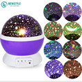 New prejection lamp night light Rotating Star Moon Sky DC 5V Colorful light high quality Kids Bed Lamp