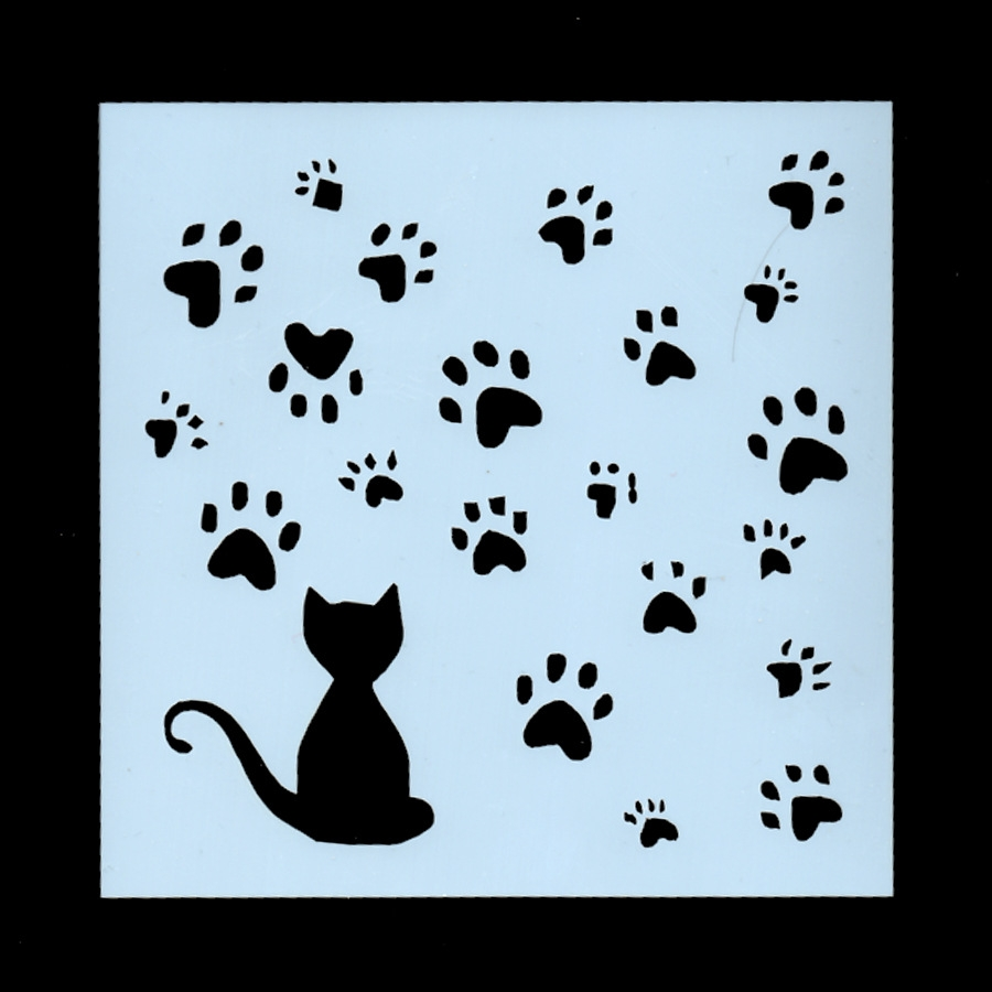 1Pcs New 13cm Cat Paw Footprint DIY Craft Layering Stencils Wall Painting Scrapbooking Stamping Embossing Album Card Template