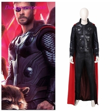 Avengers Endgame 4 New Infinity War Thor Cosplay Costume with Cloak Halloween Superhero Outfit for Adult Men suit