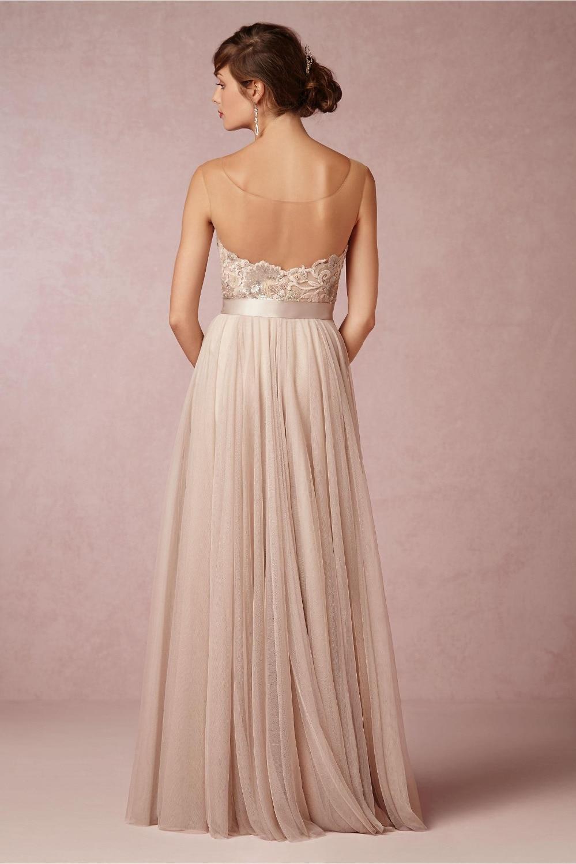 2017 vintage scoop una línea de vestidos de dama de honor con ...