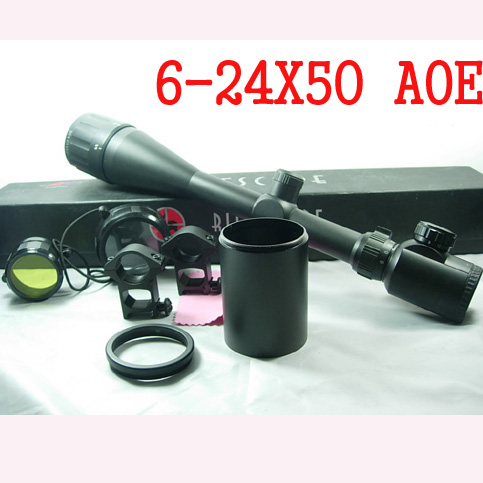 Pro 6-24x50AOE Illuminated Red/Green Crosshair Recticle Crossing Rifle Scope For Hunting Riflescopes Air Guns And Weapons