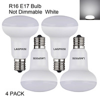 Free Shipping 4 Pack R14 R16 120V 5W Cool White Non Dimmable LED Flood Bulbs E17