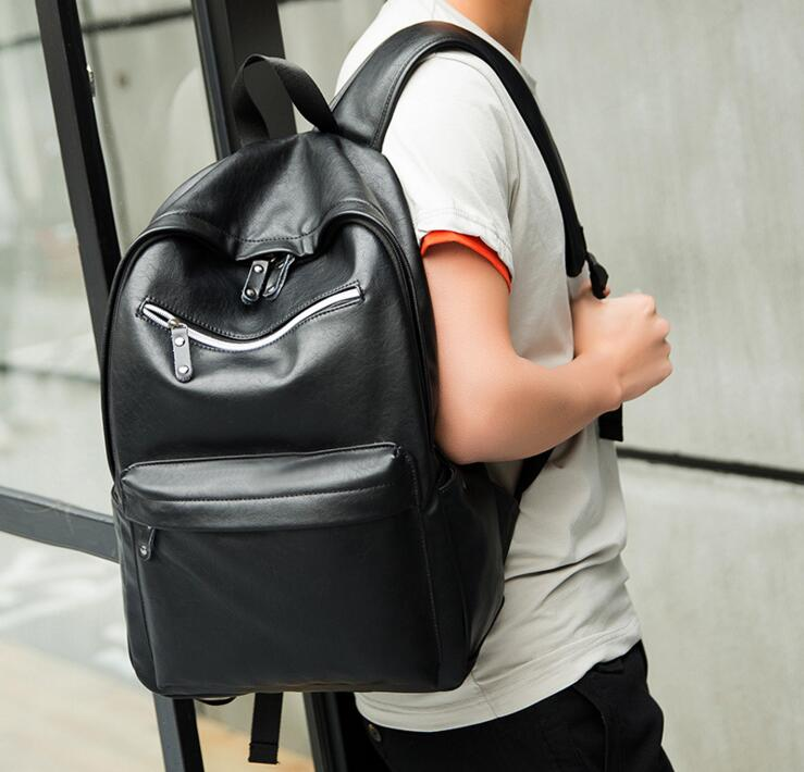 ETN BAG 081316 hot sale new hot men fashion PU leather backpack student school bag ...