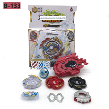 Beyblades Burst Toys B-133 B131 B139 Band Launcher and Box Bables Metal Fusion Spinning Top Bey Blade Blades Toy Bayblade недорого