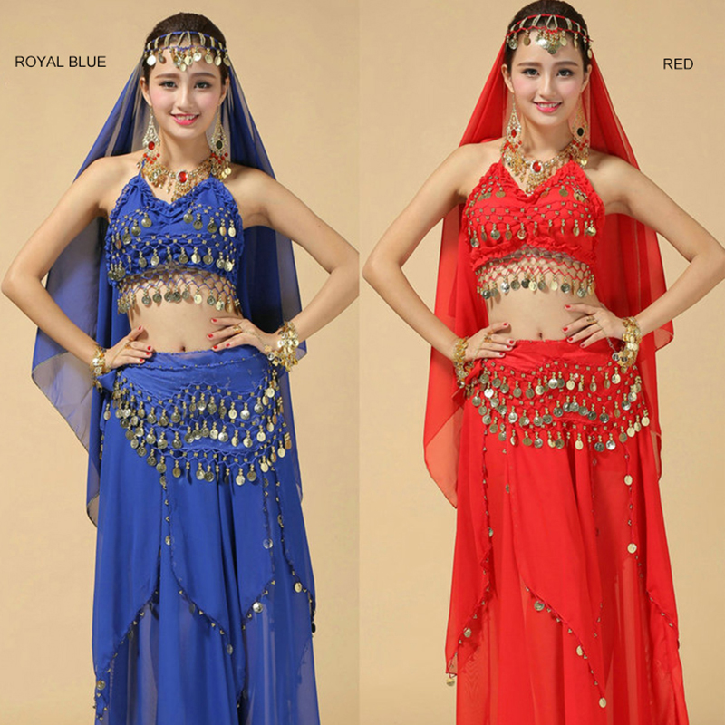 High Grade Belly Dance Suit New Indian Dance Costumes Stage Performance Sequin Polyester Skirt Set Belly Dance Clothes For Women