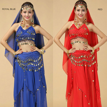 High Grade Belly Dance Suit New Indian Costumes Stage Performance Sequin Polyester Skirt Set Clothes For Women