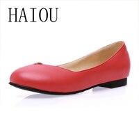 Vente chaude nouveau automne 2017 mode plat richelieu chaussures pour femmes point toe en cuir souple noir rouge casual dames plate-forme chaussures femme