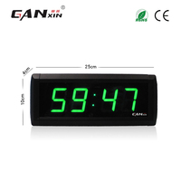 [Ganxin]1.8 Led Digital Alarm Clock Colorful Projection Clock Led Wall Clock Countdown Count up Function