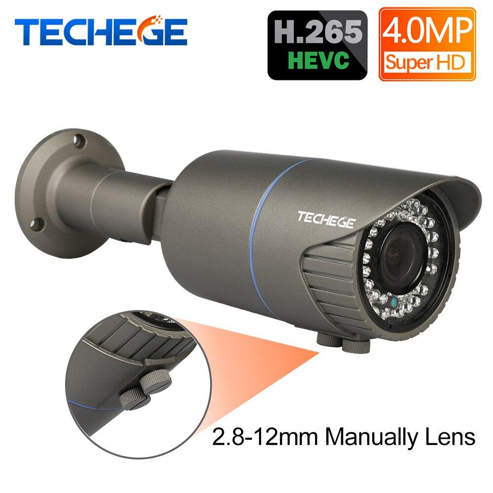 H 265 4 0MP 48V 2 8 12mm Manually Lens Hi3516D wide dynamic Onvif P2P IR